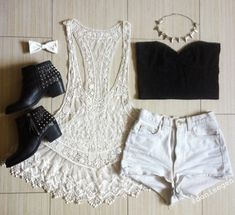needs longer shorts and different shoes and longer tank top under neath and then it would be a better outfit Tumblr Outfits, Edgy Outfits, Outfits For Teens, Fashion Outfits, Fashion Trends, Teen Fashion, Love Fashion, Womens Fashion, Cute Summer Outfits