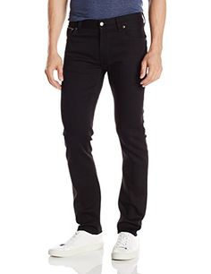 427db660115ac5 Nudie Jean Men s Thin Finn Dry Black Selvage Comfort Jean