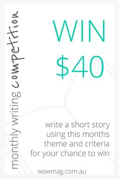 Entries now open for February's Writing Competition. This months winner gets $20 W.O.W OP SHOP Adelaide voucher & $20 iTunes gift card. No Entry Fee & open to all SA Residents 18+ years. wowmag.com.au #SouthAustralia #Writers #wowfun Win Competitions, Itunes Gift Cards, First Story, Short Stories, Writers, Shop, Life, Authors, Store