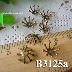 10 pcs 10mm  brass plated Bronze filigree bead caps for by diyla, $2.00