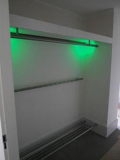 Kapstok van rvs met schoenen rek en LED verlichting