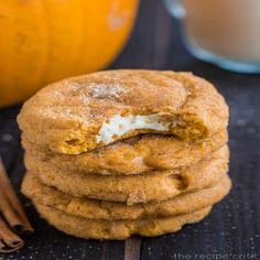 Pumpkin Cheesecake Snickerdoodles Recipes, Prep Time: 30 minutes, Cooking Time: 12 minutes, Serves: 24 servings, Directions: In a medium bowl, whisk the flour, baking powder, salt, cinnamon, and nutmeg together. Set aside.      In a kitchenaid mixer with a paddle attachment, beat together the butter and sugars on medium high speed until fluffy about 2-3 minutes.      Blend in pumpkin puree, beat in egg and then add vanilla. Slowly add dry ingredients on low speed just until combined. Cover…