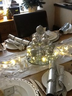 Christmas table setting at our home