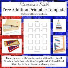 Free Montessori Math Addition Printable