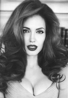 CHIC BEAUTY l Angelina Jolie l perfect pout l bouncy locks l KMS bounce hairspray http://www.hairproducts.com/view_product_BB-STY-KMS113.htm