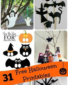 31 Free Printable Halloween Games & Activities Enjoy counting down the days with these free printable Halloween games & activities -- one for each day in October! http://crwd.fr/2kYzGdv #passion #diy #crafts #artscrafts #halloween #kids #children