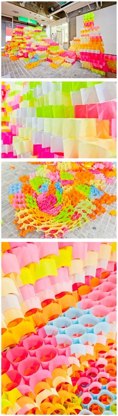 I found this photo on Pinterest and I'm not sure where it's from but it's not from a store. I picked it because I think it's amazing that you can get this much impact from like $100 worth of post-it's, now that's some bang for your buck. It inspires me because i's so inventive, colorful, and accessible. It's literally something anyone could do! What strikes me about this I how detailed and intricate it is.