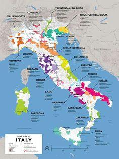 Regiones vitivinícolas italianas.