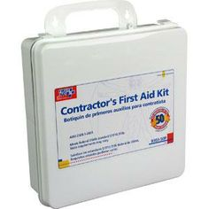 Contractors First Aid Kit, Plastic/Large $31.50