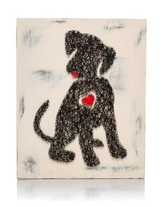 If you have a cute little puppy back home then I know you and your puppy will love this adorable DIY Puppy Heart String Art Kit! String it together so you can proudly hang it up on the wall to show ev