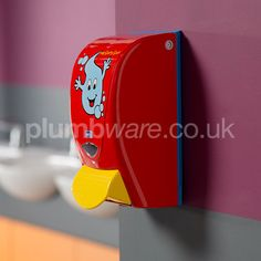 Brightly coloured dispensing systems to encourage children to wash their hands. Toilet Accessories, Soap Dispensers, Washroom, Bright Colors, Encouragement, Nursery, Make It Yourself, Classroom Ideas, How To Make