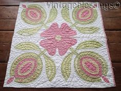 Large Antique Pink or Red & Green Love Apple Quilt Block Cutter 26x25, eBay, vintageblessings