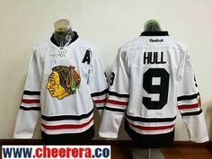 Men's Chicago Blackhawks #9 Bobby Hull White 2017 Winter Classic Stitched NHL Reebok Hockey Jersey