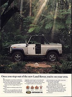images of land rover adds | Land Rover advertising in the 90's