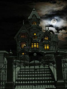 Spooky Halloween, Halloween Haunted Houses, Halloween Pictures, Halloween 2019, Creepy Houses, Spooky House, Spooky Places, Haunted Places, Haunted House Pictures