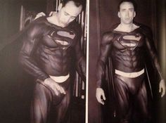 Nicholas Cage testing the Superman costume for Tim Burtons canceled movie Superman Lives | Rare and beautiful celebrity photos