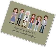Pixel People  Back to the Future  PDF by weelittlestitches on Etsy, $6.00
