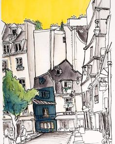 Sketch by @abottlefullofrain in Instagram #aquarell #art #painting #watercolor #watercolour #sketch #paint #drawing #sketching #sketchbook #travelbook #archisketcher #sketchaday #sketchwalker #sketchcollector #traveldiary #topcreator #usk #urbansketch #urbansketchers #скетчбук #скетч #скетчинг #pleinair #aquarelle #watercolorsketch #usk #architecture #painting #illustration