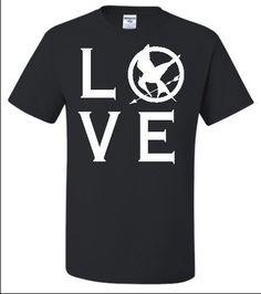Adult Black I Love The Hunger Games T-Shirt $15.00 - $17.00