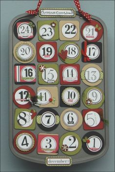 You may have seen this cute Muffin Tin Advent Calendar on Studio Each piece holds a special treat for someone to open each day! Kits for this fun project, which include all of the supplies you need, are available. 12 Days Of Christmas, Christmas Countdown, Winter Christmas, Christmas Stuff, Christmas Ideas, Holiday Crafts, Holiday Fun, Holiday Ideas, Festive