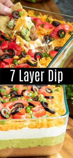 7 Layer Dip This easy Mexican 7 Layer Dip is the perfect dip recipe for a crowd! This game day dip can be made Mexican 7 Layer Dip This easy Mexican 7 Layer Dip is the perfect dip recipe for a crowd! This game day dip can be made Appetizers For A Crowd, Food For A Crowd, Dip Recipes For Parties, Mexican Food Appetizers, Party Food Recipes, Recipes For A Crowd, Cold Party Appetizers, Cold Dip Recipes, Dip Appetizers