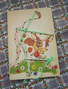 I had these sewing cards.