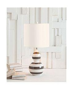 Applied Art Concepts Violi Table Lamp, Black/White