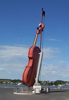 Nova Scotia giant violin... will go someday