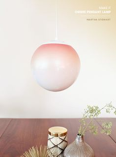 Make your own ombre pendant lamp