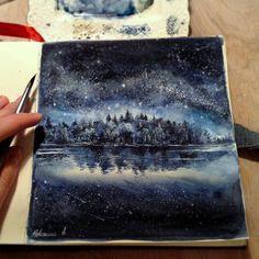 Watercolorist: @anya_nev #waterblog #акварель #aquarelle #painting #drawing #art #artist #artwork #painting #illustration #watercolor #aquarela
