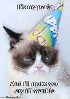 67 ideas for funny happy birthday pictures humor hilarious grumpy cat Cat Birthday Memes, Grumpy Cat Birthday, Funny Happy Birthday Pictures, Funny Happy Birthday Wishes, Funny Birthday, Unhappy Birthday, Birthday Cake, Belated Birthday, Birthday Quotes