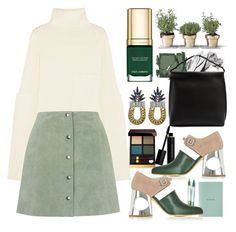"""Green With Envy: Wintery Nail Polish"" by sofirose ❤ liked on Polyvore featuring beauty, Surratt, Joseph, Bobbi Brown Cosmetics, Dolce&Gabbana, Topshop, Elizabeth Arden, The Row, Tom Ford and DANNIJO"
