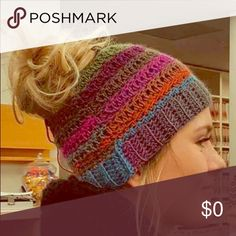 In Search Of Not for sale! Looking for high bun beanie like in pic. Does anyone make or sell these? Accessories Hats