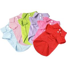 Solid Essential Polo Shirt (6 colors) http://shop.poochitoutou.com/girl-dog-clothes/dog-cardigan-dog-clothes-1.html
