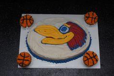 Kansas Jayhawk basketball birthday cake
