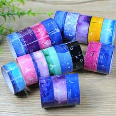Wholesale 10 pcs/lot starry sky Pvc Roll DIY Decor Scrapbooking Sticker 25 Paper Masking Tape Adhesive