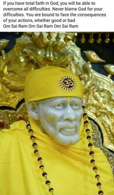 143 Best Shiridi Sai Baba images in 2019 | Sai baba, Om sai