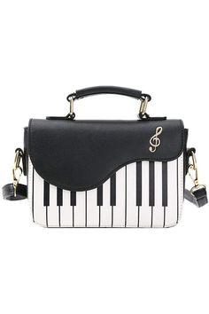 (This is an affiliate pin) Piano Guitar Music Notes PU Leather Shoulder Tote Bag Purse Crossbody Handbag for Women Girls