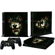 Mod Freakz Console and Controller Vinyl Skin Set  Wolf with Fangs for Playstation 4 *** Check out the image by visiting the link.(It is Amazon affiliate link) #trendy