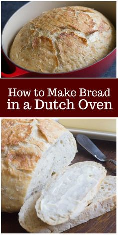 Here's a super easy recipe for herbed Dutch Oven Bread. This recipe shows you how to make bread in a Dutch oven. Let the dough rise all day long, and then pop it into a Dutch oven for 45 minutes, and it will be ready for dinner. Easy Keto Bread Recipe, Best Keto Bread, Easy Bread, Bread Recipes, Cooking Recipes, Top Recipes, Amazing Recipes, Delicious Recipes, Cooking Tips