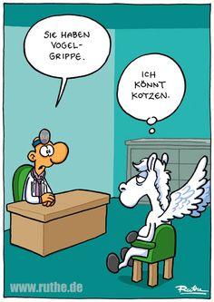 pegasus arzt vogelgrippe grippe pferd kotzen medikament krank gesund gute besserung praxis