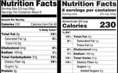 nutrition,label,new,old