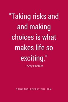 """Taking Risks and Ma"