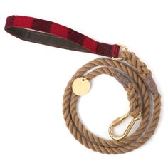 Buffalo Plaid Rope Leash