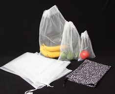 Reusable and washable produce bags. $6.99 at Whole Foods!