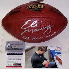 a621d018b69f2 Eli Manning Autographed Hand Signed Super Bowl XLII Official NFL Football -  PSA/DNA. Gameday Sports & Memorabilia · New York Giants Memorabilia