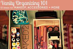 HGTV Crafternoon: 13 Cute DIY Vanity Organizing Ideas --> http://blog.hgtv.com/design/2015/01/14/hgtv-crafternoon-13-cute-diy-vanity-organizing-ideas/?soc=pinterest