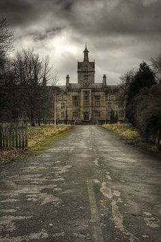 This is a picture of an abandoned asylum. It is as empty as Grace felt when she was in one. Even If Grace is not a loony, she sure has had some experience with them. (cue creepy 50's horror movie background music)
