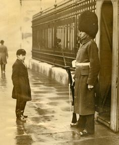 British boy at Buckingham Palace, ca. 1930.