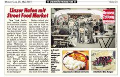 Wir freuen uns über die erste Berichterstattung der Kronen Zeitung! Streetfood Market, Streetfood Festival, Festivals, Catering, New York, Street Food, Austria, Linz, Report Writing